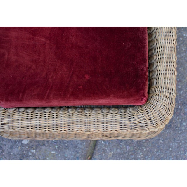 1970s Vintage Sculptural Wicker Armchairs & Ottomans- 4 Pieces For Sale - Image 10 of 12