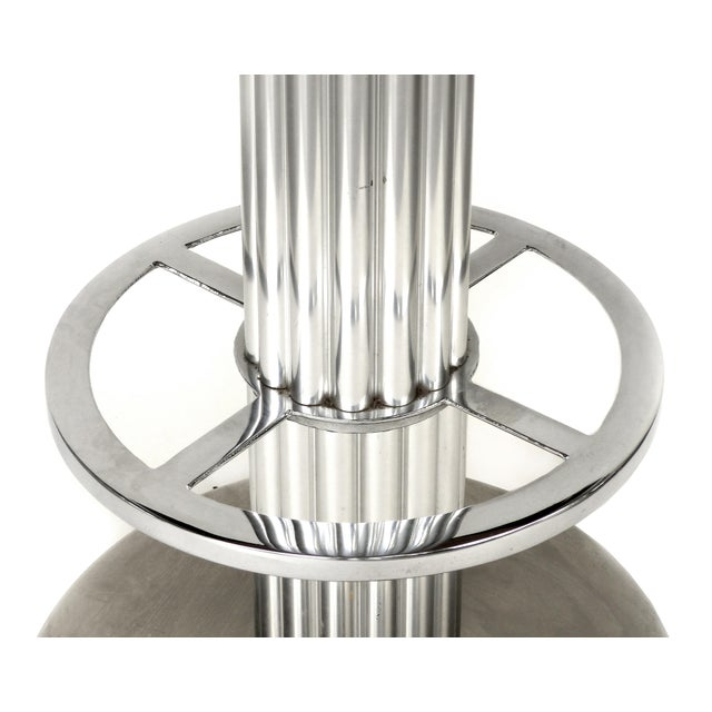 Designs for Leisure Brushed Stainless Steel Bar Stools 1980s- Set of 3 For Sale In Miami - Image 6 of 13
