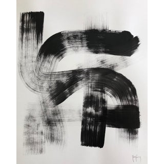 Black & White Modern Abstract Painting by Tony Curry