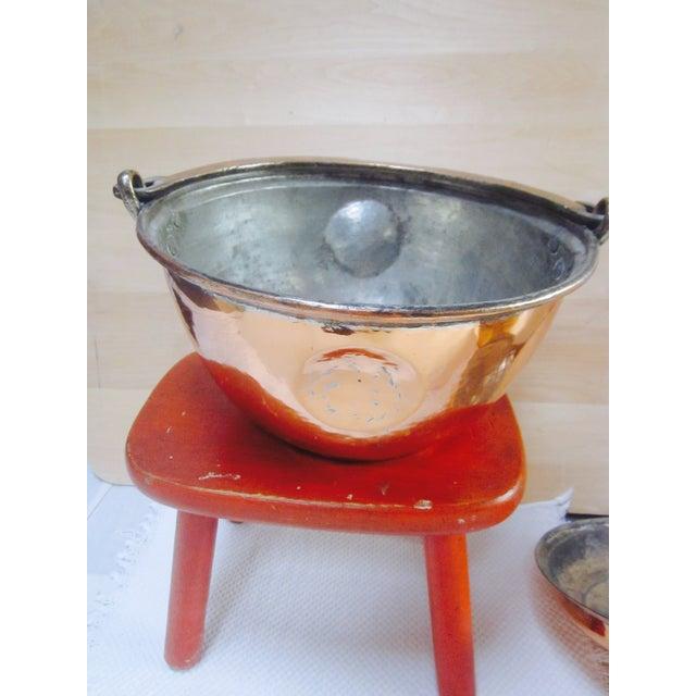 Copper Pot Set Hammered Copper & Brass Pots & Pans - Set of 4 - Image 3 of 10