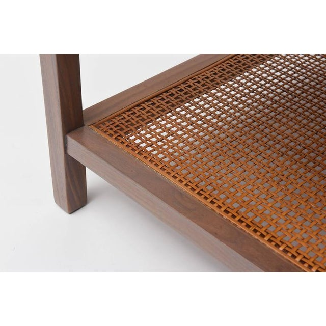 Paul McCobb Greige Walnut Side Table for Calvin For Sale - Image 9 of 10