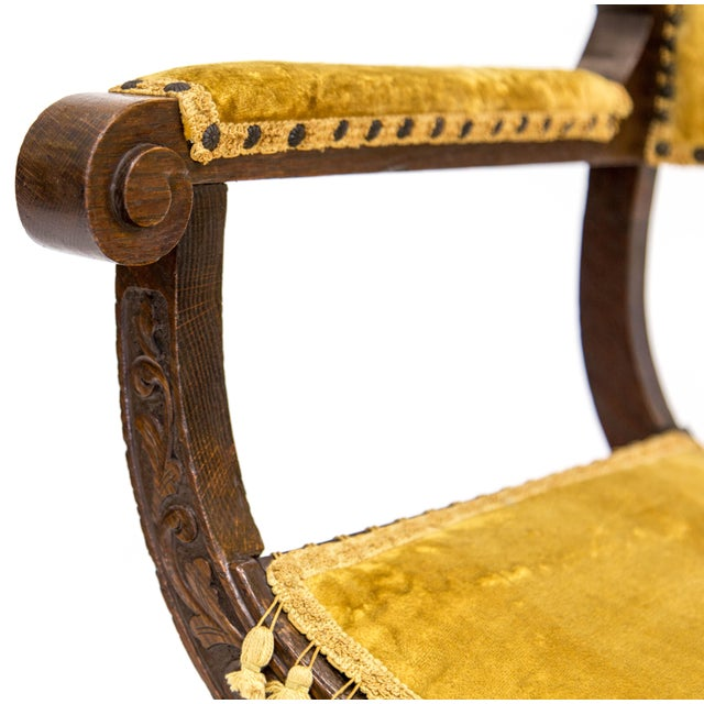 Early 20th Century Renaissance Revival Savonarola Chair For Sale - Image 5 of 13