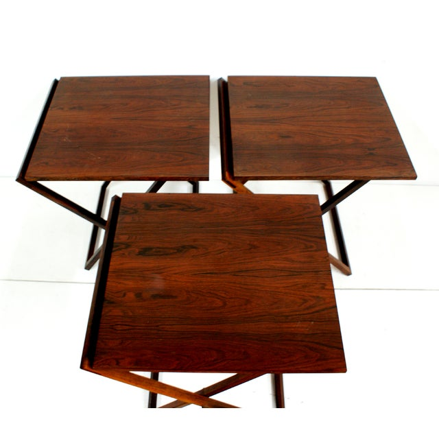 Rosewood Illum Wikkelso Danish Folding Tables Set - Image 5 of 5