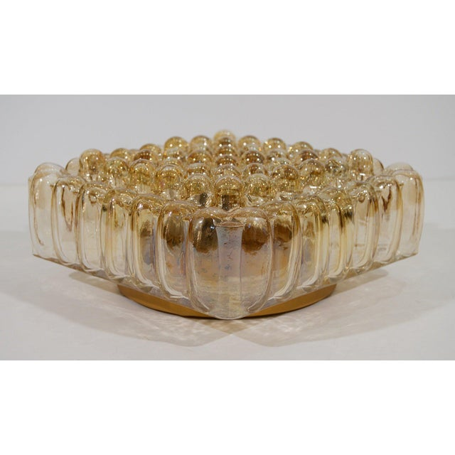 Mid-Century Modern Bubble Amber Tone Flush Mount For Sale - Image 3 of 8