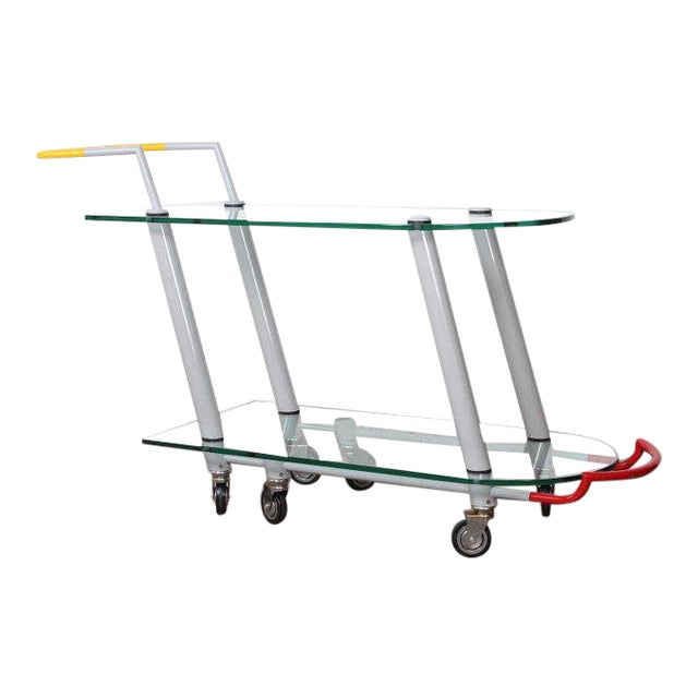 Hilton Trolly Barcart by Javier Mariscal for Memphis, 1981 For Sale