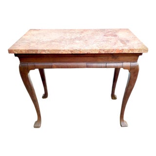 George II Mahogany Marble Top Console Table For Sale