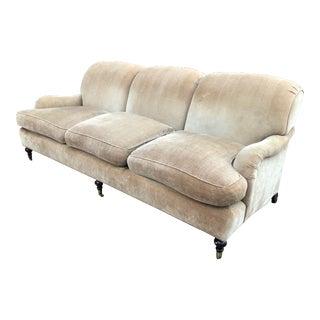 O Henry House Ltd Down Filled Velvet Chenille Sofa For Sale