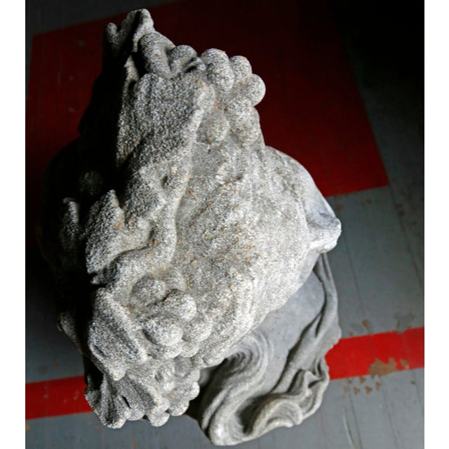 Late 20th Century Classical Bust - Cast Stone For Sale - Image 5 of 7