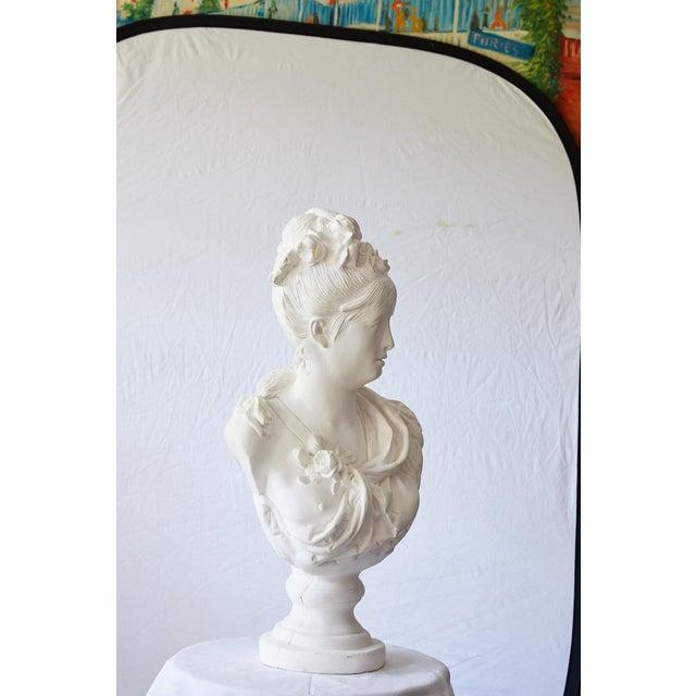 Elegant Hollywood Regency Large Plaster Bust For Sale - Image 12 of 13