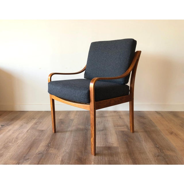 Danish Mid-Century Modern Side Chair by j.m. Birking For Sale - Image 13 of 13