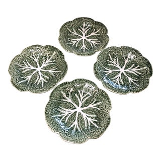 Majolica Bordalo Pinheiro Plates - Set of Four For Sale