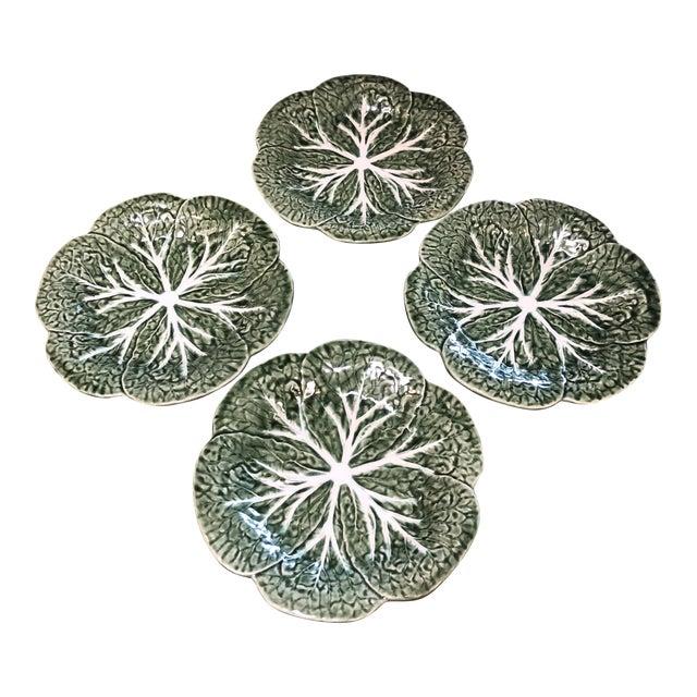 Majolica Bordalo Pinheiro Plates - Set of Four For Sale