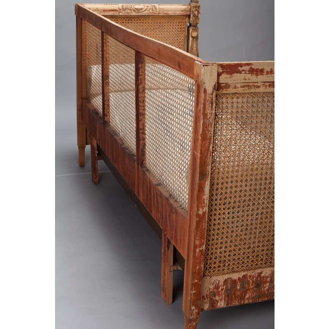 19th-Century Swedish Cane-Back Settee - Image 9 of 9