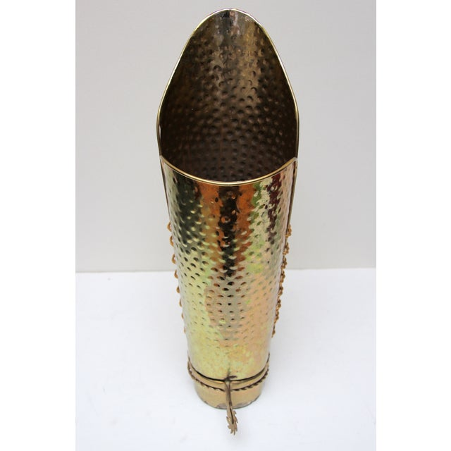 Brass Cowboy Boot Umbrella Stand - Image 6 of 8