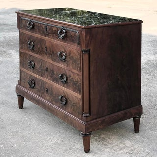 Antique French Neoclassical Mahogany Marble Top Commode Preview