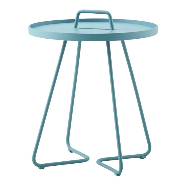Cane-Line On-The-Move Side Table, Small, Aqua For Sale