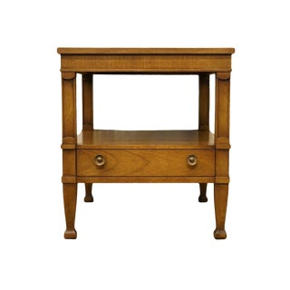 Late 20th Century Vintage Drexel Triune Collection Mahogany End Table For Sale