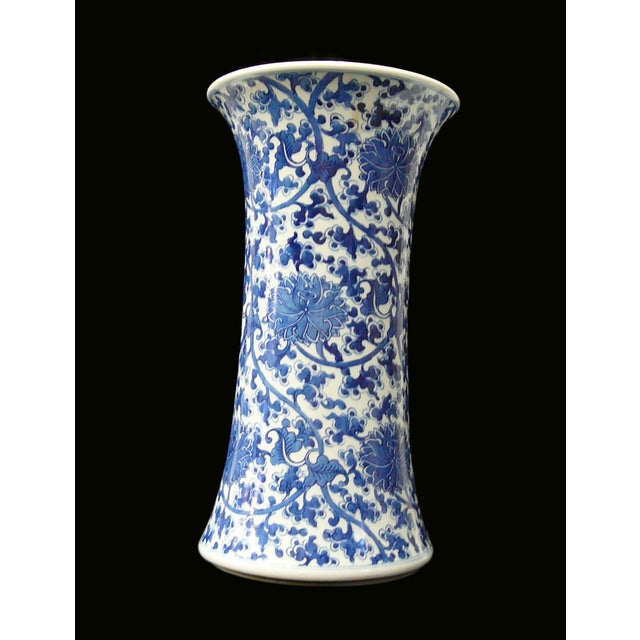 Chinese Vintage Blue & White Flower Porcelain Vase - Image 8 of 8