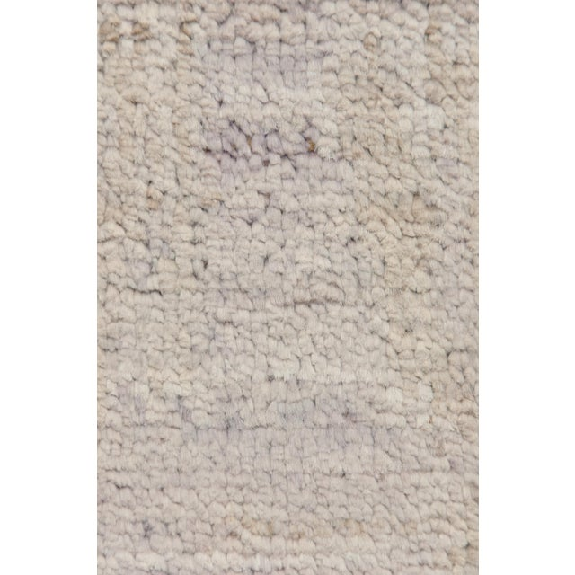 """Moroccan Hand Knotted Area Rug - 4' X 6'1"""" - Image 3 of 3"""