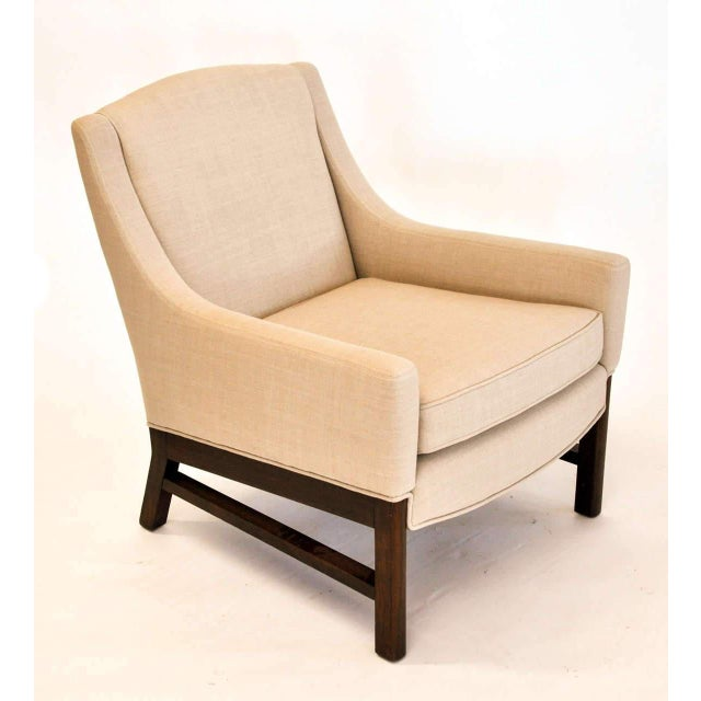 Mid-Century Modern Lounge Chairs Attributed to Edward Wormley for Dunbar, 1950s For Sale - Image 3 of 9