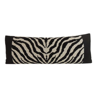 Vintage Black and White Zebra Pattern Decorative Bolster Pillow