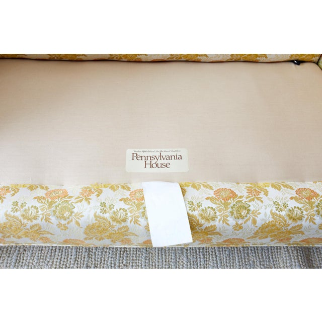 English Georgian Style Mahogany Camelback Settee Loveseat For Sale In San Francisco - Image 6 of 13