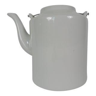 Janus Et Cie Contemporary Blanc De Chine Teapot For Sale
