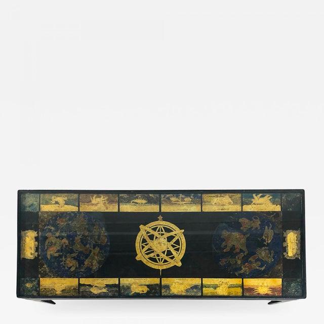 Black Guglielmus Blaeuni - Guglielmus Blaeuni Scagliola Policromia Coffee Table From 1731 For Sale - Image 8 of 8
