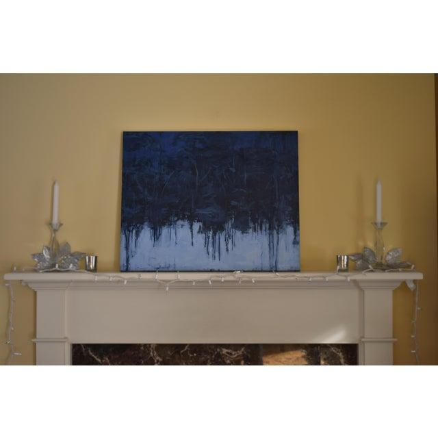 "Paint ""Lovely, Dark and Deep"" Original Painting For Sale - Image 7 of 8"