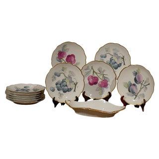 German Fruit Plates & Platter - Set of 12