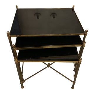 Neoclassical Brass Side Tables by Maison Jansen - 3 Pieces For Sale
