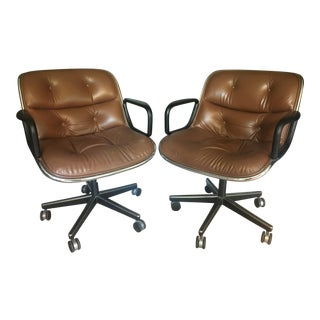 Vintage Charles Pollock for Knoll Executive Chairs - a Pair For Sale