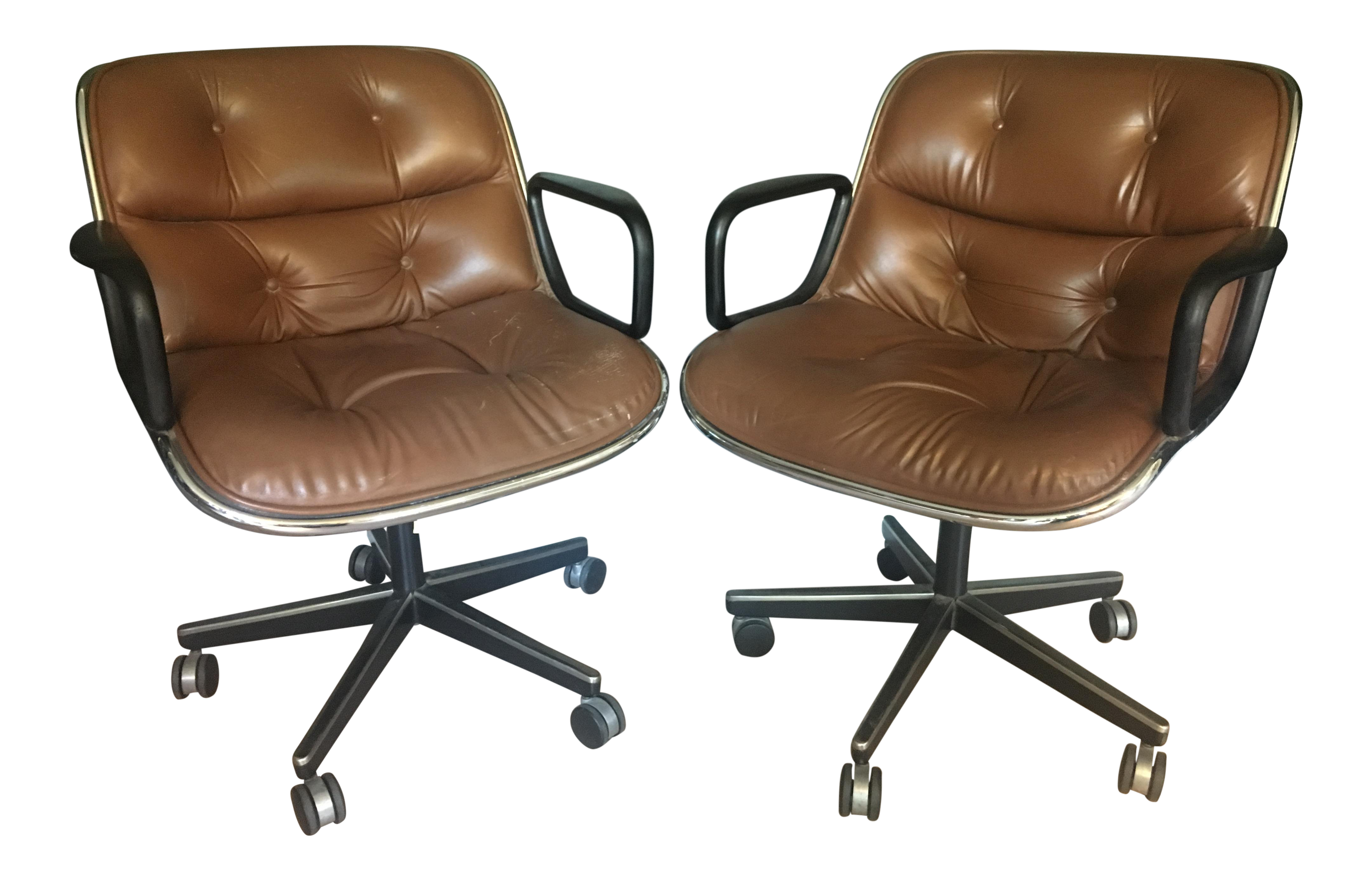 Vintage Charles Pollock For Knoll Executive Chairs   A Pair For Sale