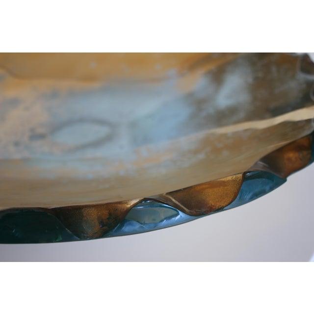 Art Deco Bronze Gilded Raw Edge Bowl Attb: DAnny Lane For Sale - Image 3 of 5