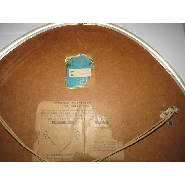 Mid-Century Modern Turner Mfg. Oval Chrome Mirror For Sale - Image 11 of 13