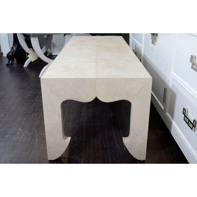 Wood Genuine Shagreen Cocktail Table For Sale - Image 7 of 10