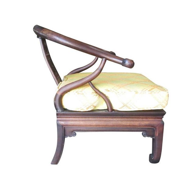Textile James Mont Style Horseshoe Lounge Chairs- A Pair For Sale - Image 7 of 10