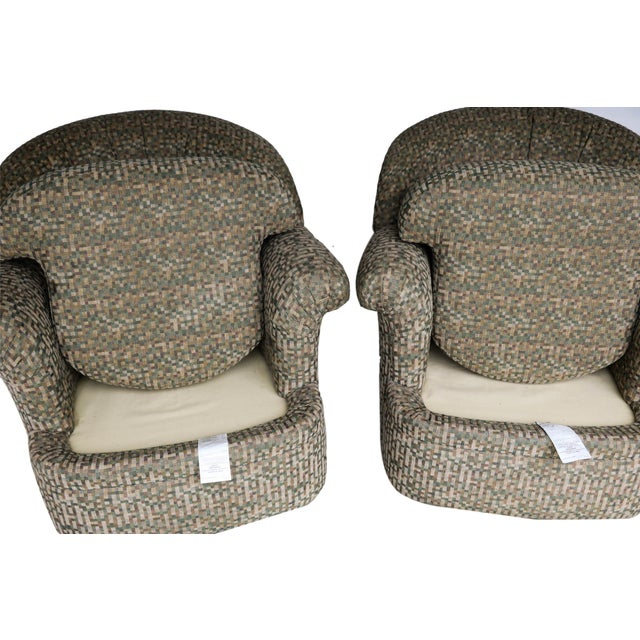 Pair Mid Century Modern Swivel Lounge Chairs - Image 4 of 9