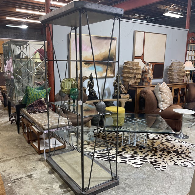Large Iron and Glass Etageres For Sale - Image 12 of 13