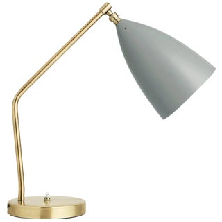 Greta Magnusson Grossman 'Grasshopper' Table Lamp in Light Gray For Sale