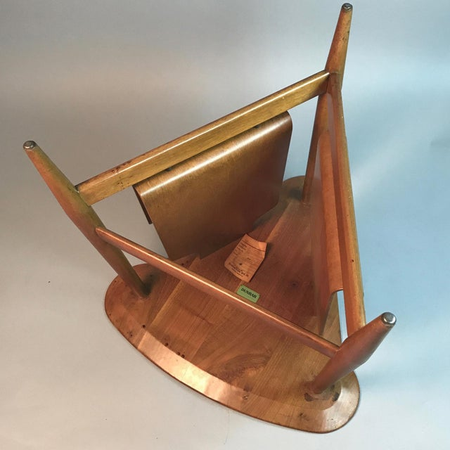 Tan Edward Wormley for Dunbar Wedge Shaped Magazine Table in Sap Walnut & Malabar For Sale - Image 8 of 9