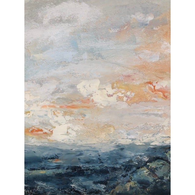 Encaustic Seascape Painting For Sale - Image 4 of 7