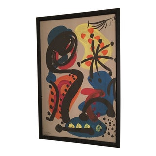 Peter Keil Colorful Miro Style Abstract Painting