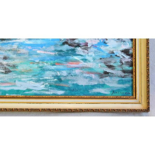 Mid 20th Century Juan Guzman Ventura California Crashing Ocean Waves Oil Painting For Sale - Image 5 of 10