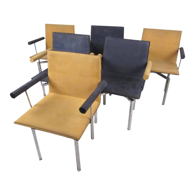 Modern Memphis Style Swivel Dining Chairs