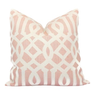 Schumacher Pink Imperial Trellis Decorative Pillow Cover