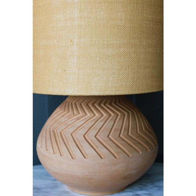 Native American Art Pottery Lamp - Image 3 of 11
