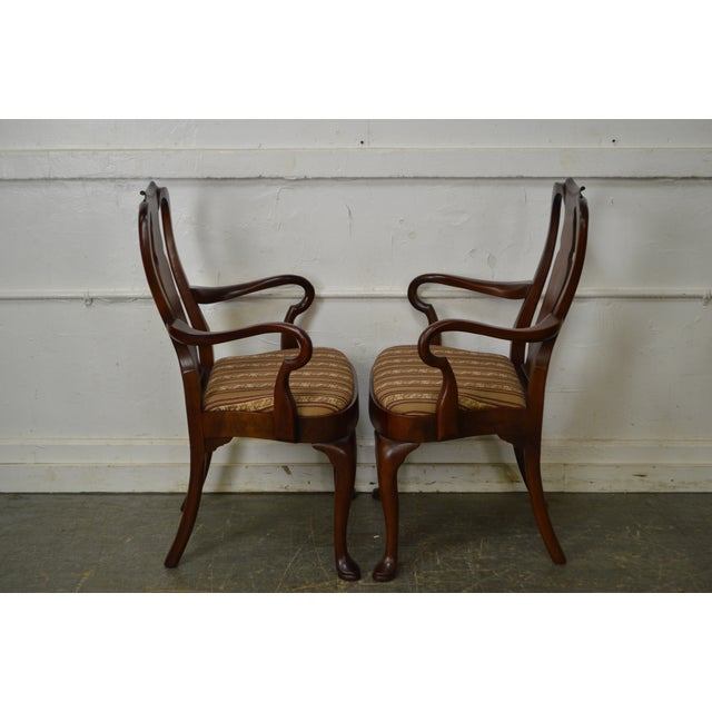 18th Century Style Hickory Chair Mahogany Queen Anne ...