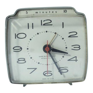 Westclox Electric Retro Desk Clock For Sale