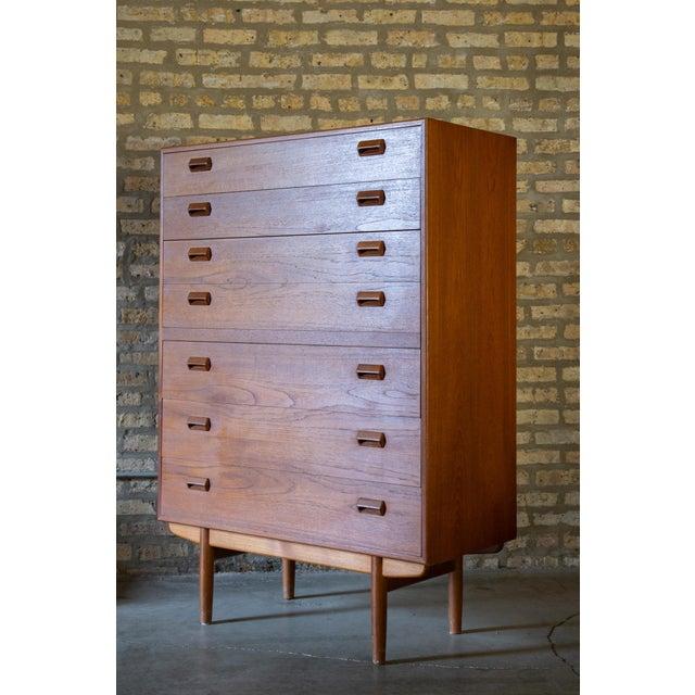 Børge Mogensen 1960s Børge Mogensen Highboy Dresser For Sale - Image 4 of 7